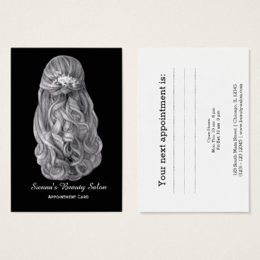 Professional Business Hairstylist appointment card