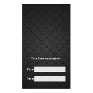 Hairstylist Appointment - Retro Black and White Double-Sided Standard Business Cards (Pack Of 100)