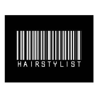 Hairstylist Bar Code Postcard