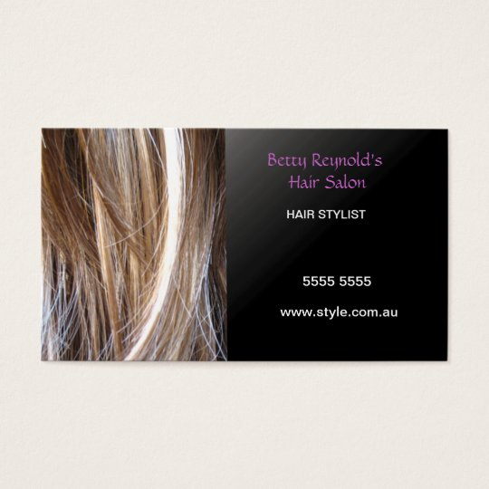 hairstyle business cards