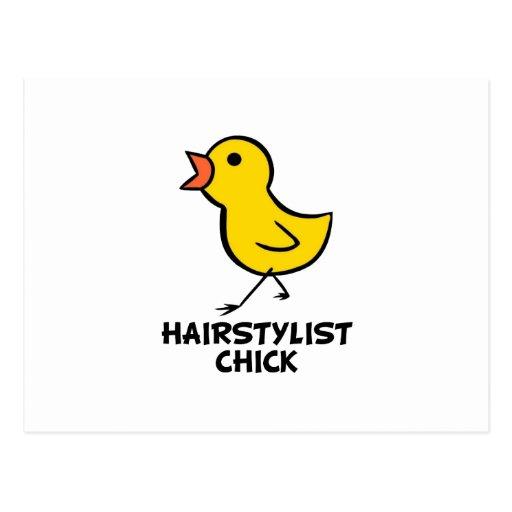Hairstylist Chick Postcard