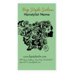 Hairstylist del balneario del salón de pelo de la tarjetas de visita
