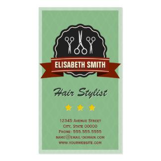 Hairstylist del peluquero - vintage retro tarjetas de visita