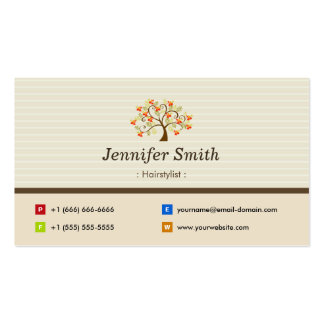 Hairstylist - Elegant Tree Symbol Business Card Template