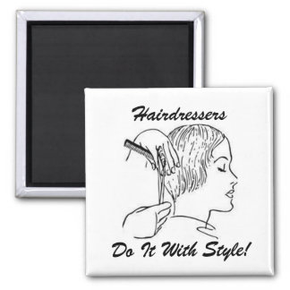 HairStylist Frenzy 2 Inch Square Magnet