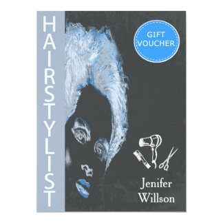 Hairstylist Gift Voucher 6.5x8.75 Paper Invitation Card