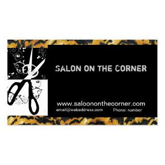 HairStylist Hairdresser WIld Scissors Business Card Template