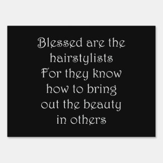 Hairstylist Letrero