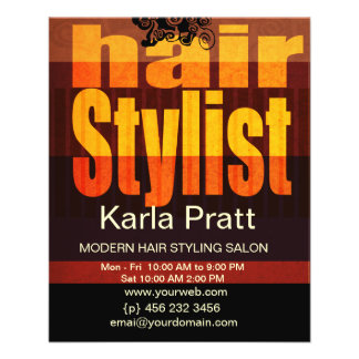 """Hairstylist profesional del balneario del salón de folleto 4.5"""" x 5.6"""""""