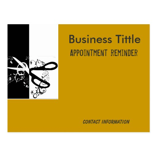Hairstylist Salons & Spa Appointment Reminder Post Cards