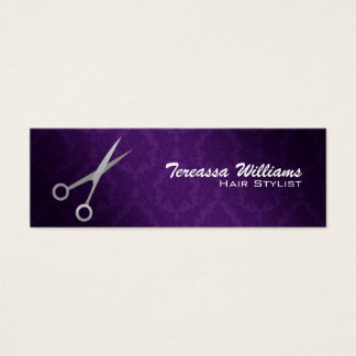 Hairstylist Scissors Skinny Business Cards
