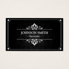 Hairstylist - Shadow Of Damask Business Card at Zazzle
