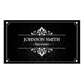 Hairstylist - Shadow of Damask Double-Sided Standard Business Cards (Pack Of 100)