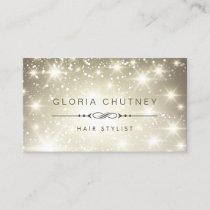 Hairstylist - Sparkling Bokeh Glitter Business Card