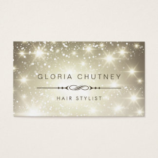 Hairstylist - Sparkling Bokeh Glitter Business Card