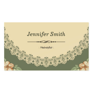 Hairstylist - Vintage Chic Floral Business Card Template