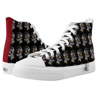 Hairy Animal Cyborg Skull Printed Shoes