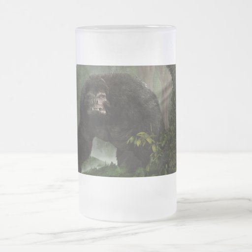 Hairy Beast 16 Oz Frosted Glass Beer Mug