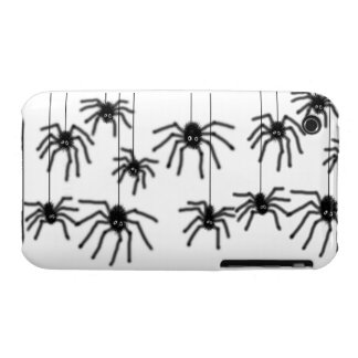 Hairy Cartoon Spiders iPhone 3 Case