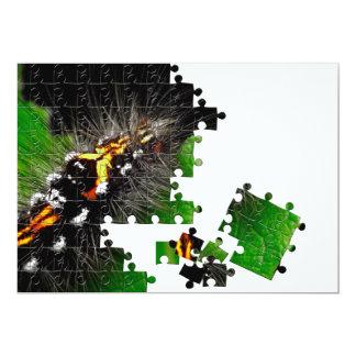 Hairy caterpillar 5x7 paper invitation card