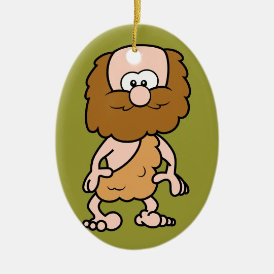 Hairy Caveman Ceramic Ornament