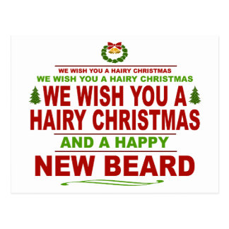 Mustache Christmas Postcards | Zazzle