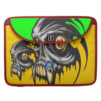 Hairy Cyber Skull Beast Sleeve For MacBook Pro