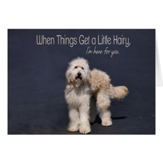 Hairy Dog: Friendship Support Greeting Card
