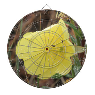 Hairy Evening Primrose Blossom Dartboard With Darts