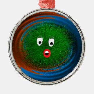 Hairy Friend Metal Ornament