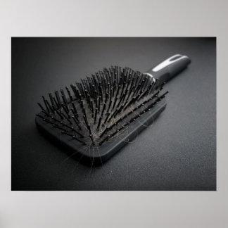 Hairy hairbrush poster