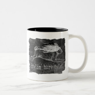 Hairy Hare Style Two-Tone Coffee Mug