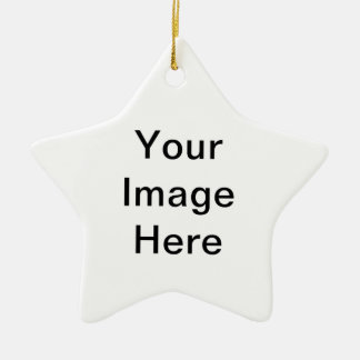 Hairy Haven Double-Sided Star Ceramic Christmas Ornament