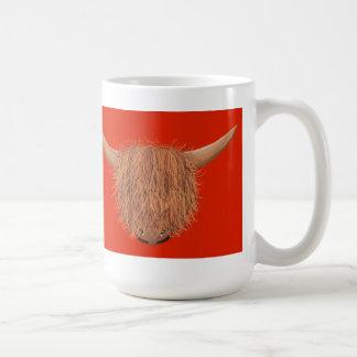 Hairy Highland Cow Mug (Red)