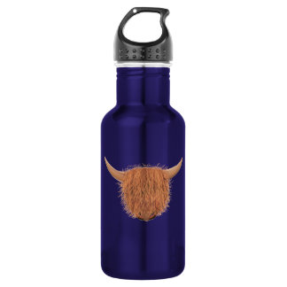 Hairy Highland Cow Stainless Steel Water Bottle