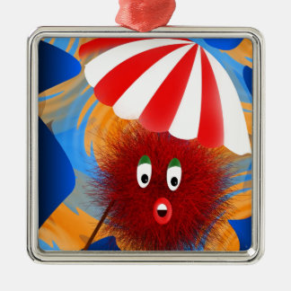 Hairy Holiday Maker Metal Ornament