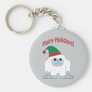 Hairy Holidays! Christmas Yeti Keychain