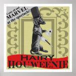 """Hairy Houweenie ! Wiener Dog  """"Carnival"""" Poster"""
