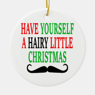 Hairy Little Christmas Christmas Ornament