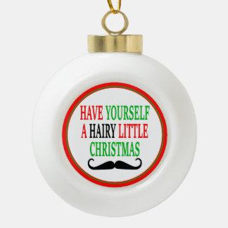 Hairy Little Christmas Ornaments