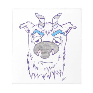 Hairy monster with horns scratch pads