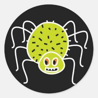 Hairy Spider Halloween Stickers
