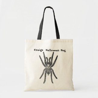 Hairy Spider Personalized Tote