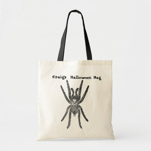 Hairy Spider Personalized Tote Bag