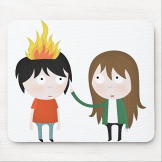 Hairy wildfire mouse pad
