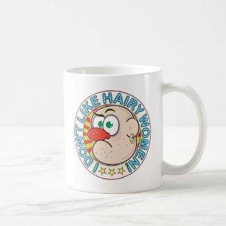 Hairy Women Grumpy Classic White Coffee Mug
