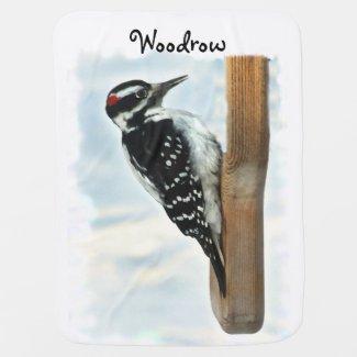 Hairy Woodpecker Baby Blanket