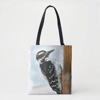 Hairy Woodpecker Bird Animal Tote Bag