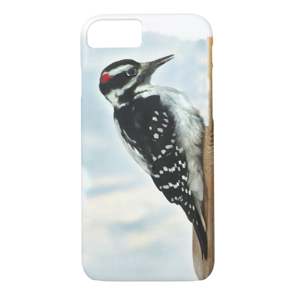 Hairy Woodpecker Bird iPhone 7 Case