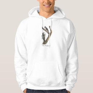 Hairy Woodpecker, John Audubon Hoodie